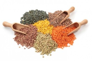 So many kinds! Most divided into split lentils (red, yellow) and whole lentils (green, lepuy, etc.)*