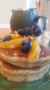 Ricotta pancakes with blueberries and orange!