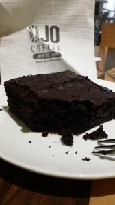 Plain gluten-free brownie at OJO Coffee in the Telawis, Bangsar.