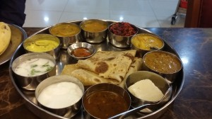 The thali is still the same - and still great - in Muscat!