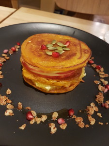 The pumpkin pancake... beautifully delivered!